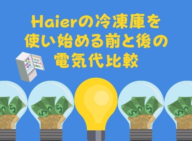 Haier冷凍庫の電気代